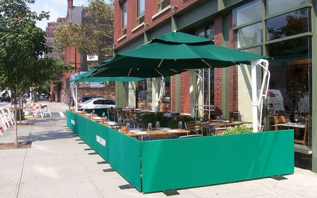 Outdoor Seating and Umbrellas