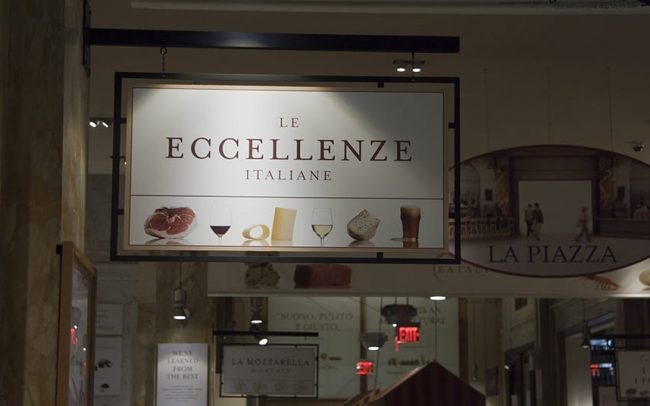 Eataly Interior Swing Sign