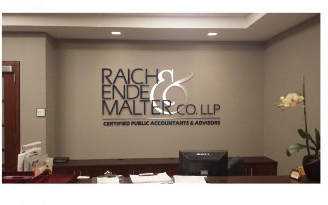 Raich Ende Malter Sign Letters