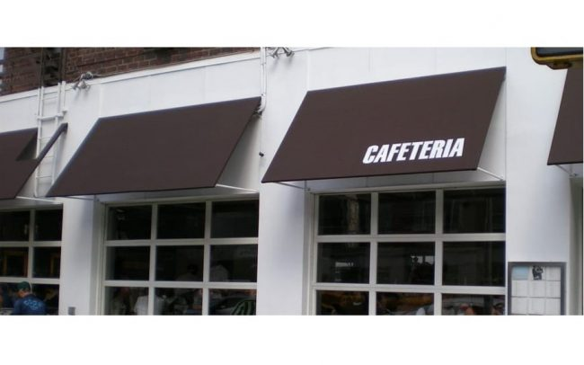 Restaurant Awnings - Cafeteria NYC